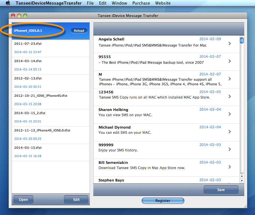 Transfer iPhone SMS to Mac/anohter iPhone. No Jailbreak required.