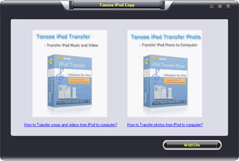 Tansee iPod Copy Pack screenshot