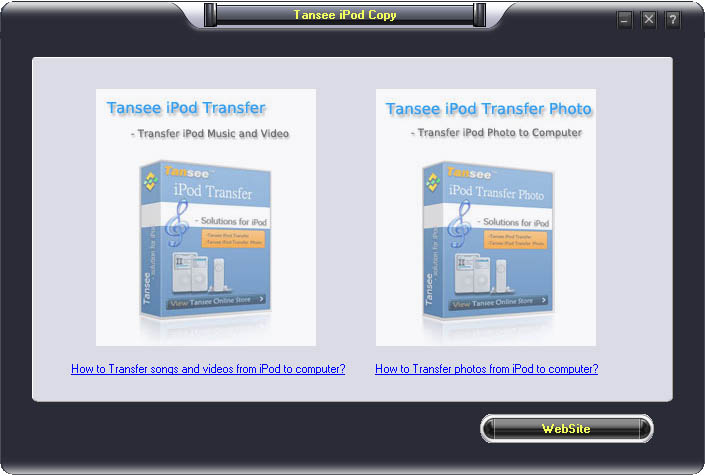 Tansee iPod Copy Suite screenshot